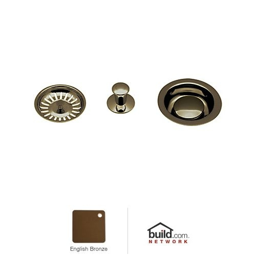 Rohl 737 Basket Strainer with Pop-Up Controls and Basket - Nickel Finish