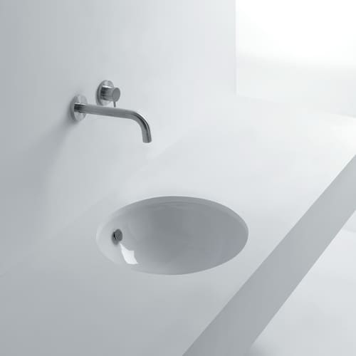 WS Bath Collections Pot 46 18-1/8' Undermount Bathroom Sink with Overflow from the Whitestone Collection