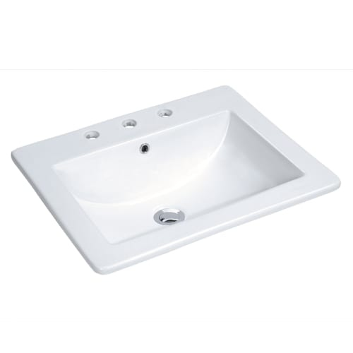 Miseno MLD-2118-3 18' Drop In Bathroom Sink with 3 Holes Drilled and Overflow