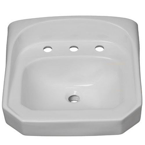 ProFlo PF5514 20-1/4' Wall Mounted Rectangular Bathroom Sink - 3 Holes Drilled