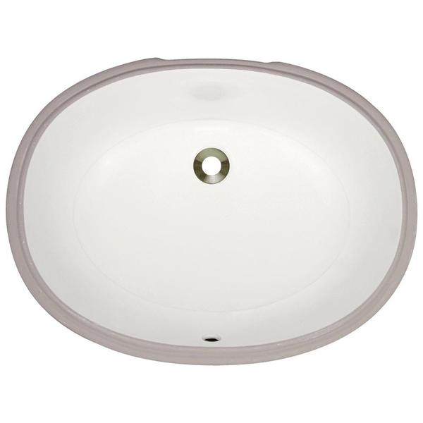 UPL Porcelain Undermount Bathroom Sink - Bisque