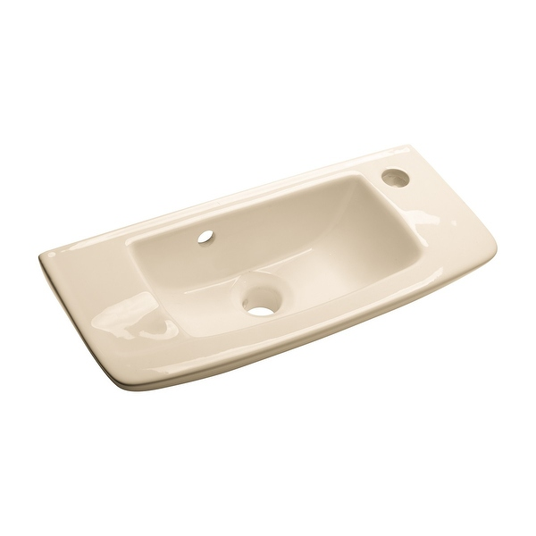 Small Wall Mount Vessel Sink Grade A Vitreous China Scratch and Stain Resistant - Renovator's Supply