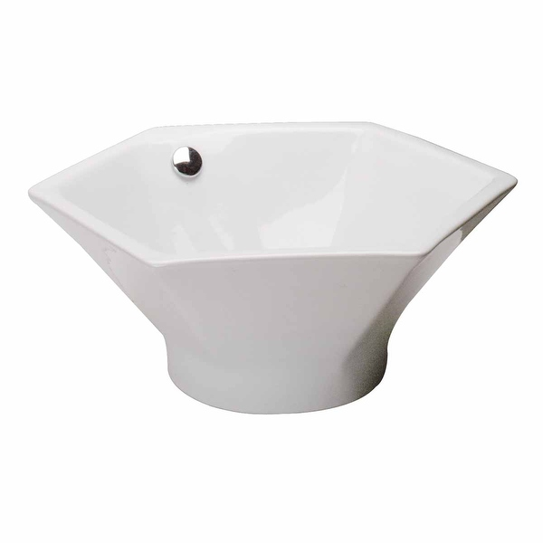 Bathroom Vessel Sink White China Porcelain Hexagon | Renovator's Supply - Renovator's Supply