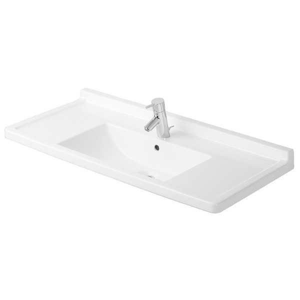 Duravit Furniture 41.25-inch Starck 3 White Washbasin 0304100000 - White Alpin