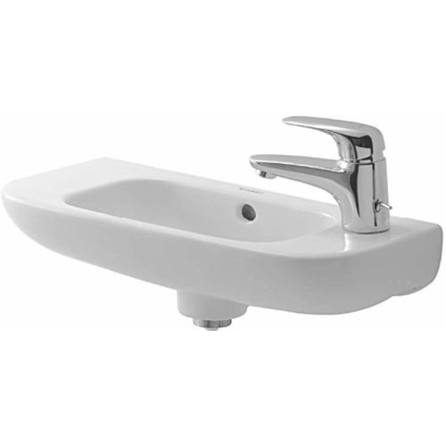 Duravit 706500000 D-Code 19-3/4' Ceramic Wall Mounted Bathroom Sink with Overflow