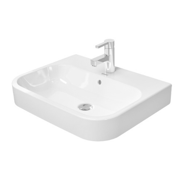 Duravit Happy D.2 Washbowl with Overflow and Tap Platform 2315600000 - White Alpin