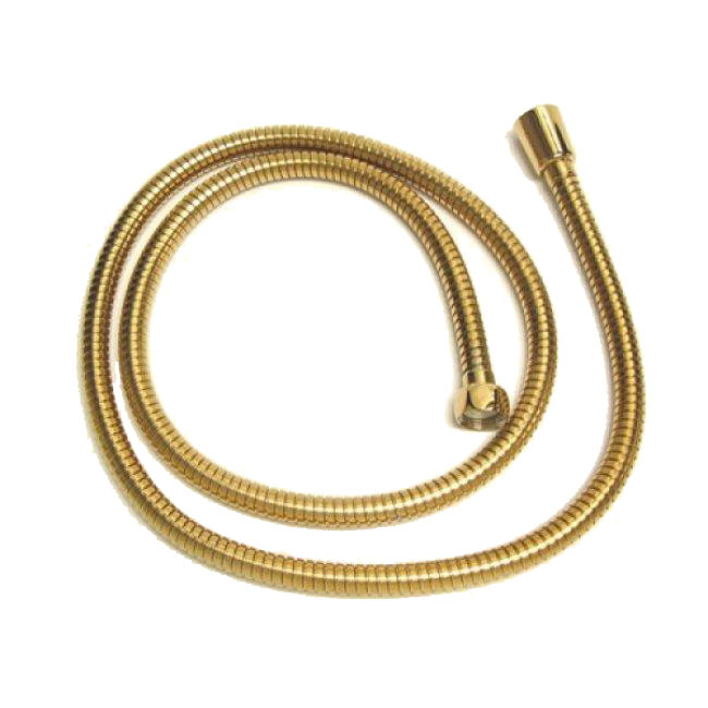 Vintage 59-inch Polished Brass Replacement Shower Hose - 59-inch Polished Brass Replacement Shower Hose from the Vintage Collection