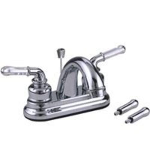 Toolbasix PF4233 Two Handle Lavatory Faucet, Non-metallic, Chrome