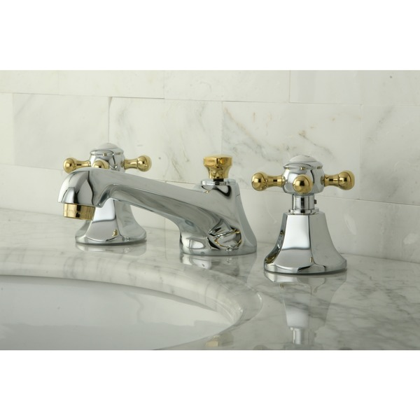 Metropolitan Chrome and Polished Brass Bath Faucet