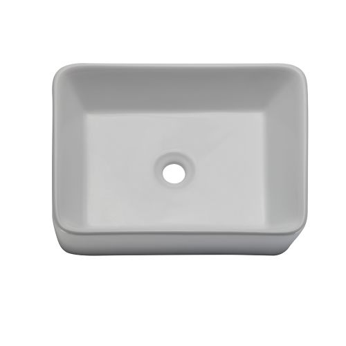 DecoLav 1454 Classically Redefined 19' Rectangular Vitreous China Vessel Lavatory Sink