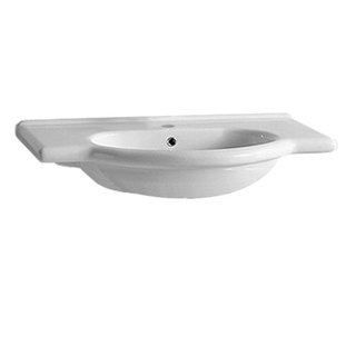 Whitehaus Collection Isabella Wall Mount/Semi Recessed Bath Basin