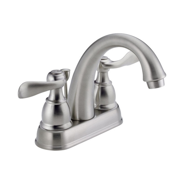 Delta Windemere Two Handle Lavatory Pop-Up Faucet 4 in. Brushed Nickel