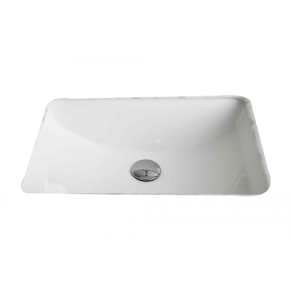 20.75-in. W x 14.35-in. D CSA Certified Rectangle Undermount Sink In White Color - White