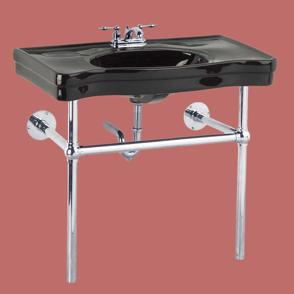 Console Sink Belle Epoque Black China Chrome Wall Mount| Renovator's Supply - Renovator's Supply