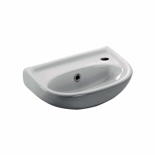 WS Bath Collections Basic 4000.01L Basic 15-1/2' Wall Mounted Bathroom Sink