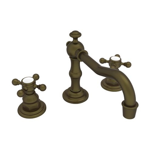Newport Brass 930 Chesterfield Double Handle Widespread Lavatory Faucet with Metal Cross Handles