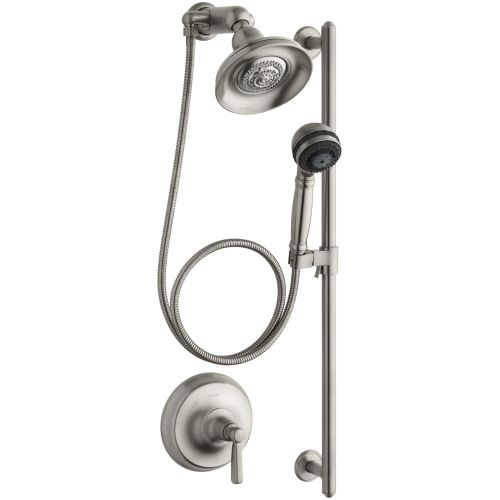 Kohler K-10828-4 Bancroft Single Handle Shower System with Multi-function Hand Shower