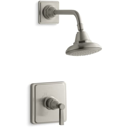 Kohler K-TS13134-4A Single Handle Rite Temp Pressure Balanced Shower Only Trim with Single Function Shower Head from the