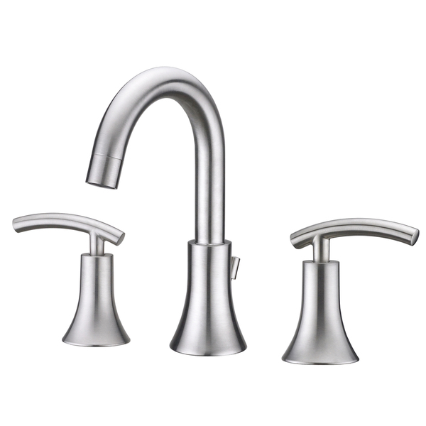Ultra Faucets UF55313 Brushed Nickel Contemporary Lavatory Widespread Faucet - Fauc Lav 2h Br Nkl