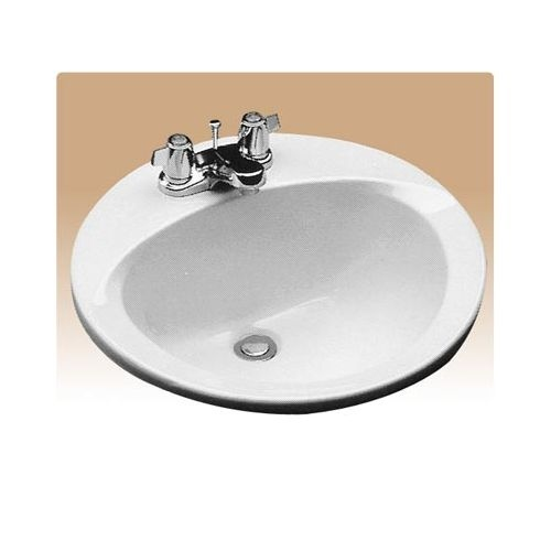 Toto LT502 Reliance Commercial 19' Drop In Bathroom Sink with Single Faucet Hole Drilled and Overflow