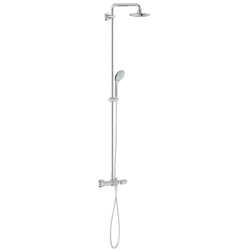 Grohe 26 177 Euphoria Thermostatic Tub and Shower System with Adjustable Hand Shower Holder, DreamSpray, and TurboStat