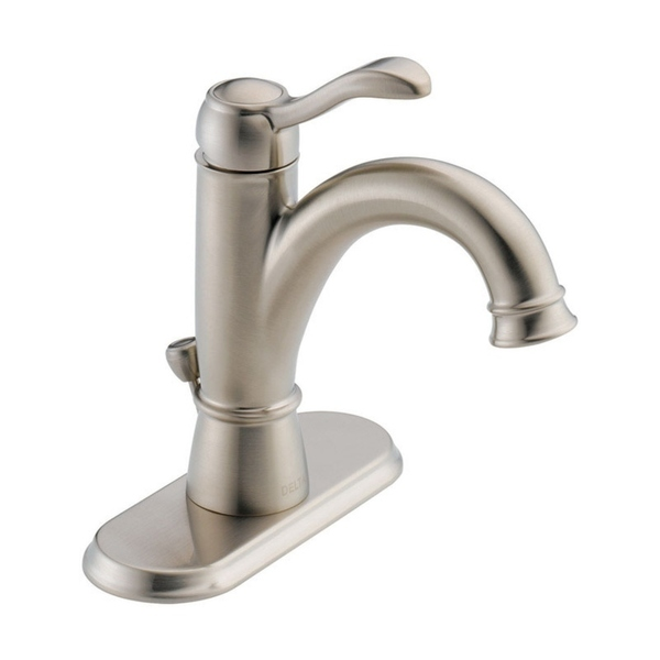 Delta Porter Single Handle Lavatory Pop-Up Faucet 4 in. Brushed Nickel