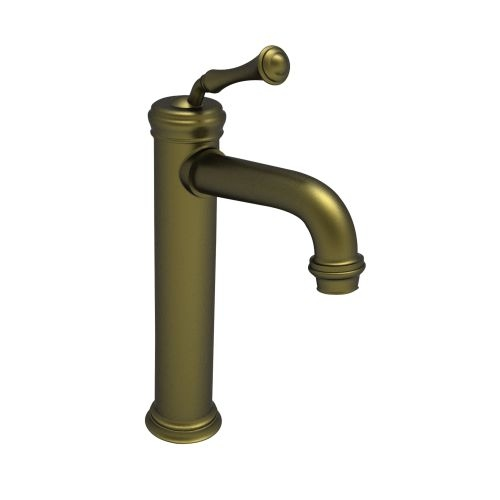 Newport Brass 9208 Single Handle Single Hole Bathroom Faucet for Vessel Sinks with Metal Lever Handle from the Astor Collection