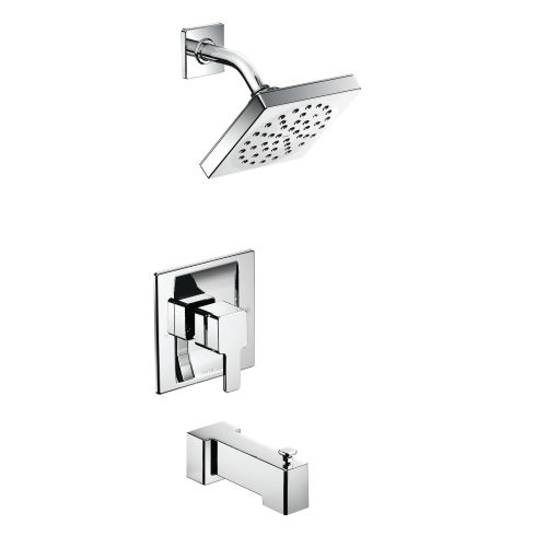 Moen TS3713 Moentrol Pressure Balanced Tub and Shower Trim with 2.5 GPM Shower Head, Tub Spout, and Volume Control from the 90