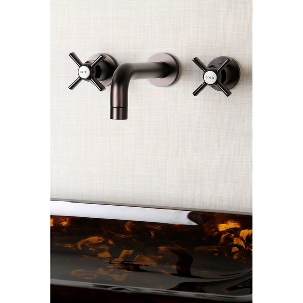 Wall-mount Oil Rubbed Bronze Vessel Bathroom Faucet - Oil Rubbed Bronze