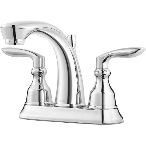 Pfister LG48-CB1 Avalon 1.2 GPM Centerset Bathroom Faucet with Metal Pop-Up Assembly