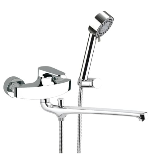 Nameeks L49US Remer Wall Mounted Tub Filler with Hand Shower and Wall Bracket