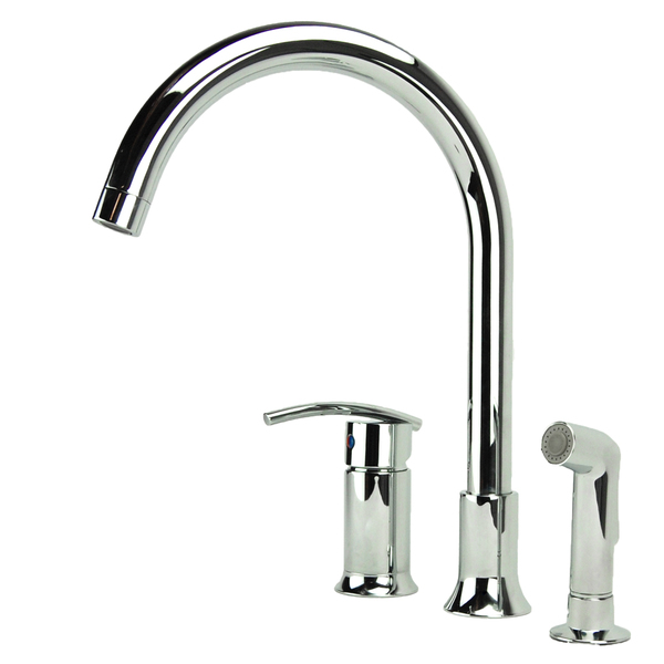 Fontaine Vincennes Single-handle Chrome Kitchen Faucet with Side Spray - Chrome