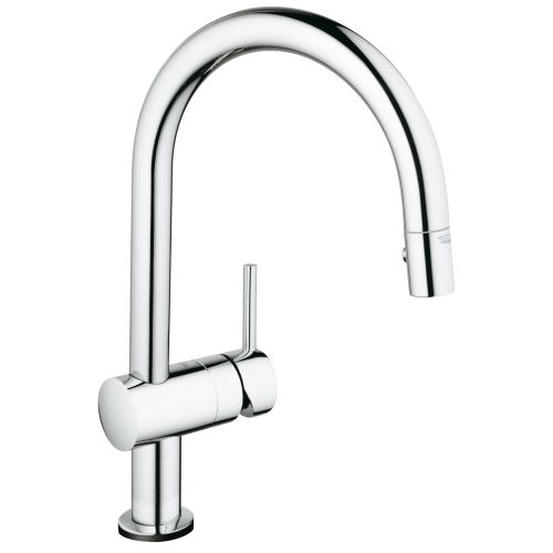 Grohe 31 359 Minta Pull-Down Spray Kitchen Faucet with Touch Activation