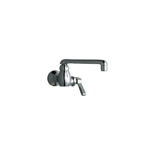 Chicago Faucets 332-E35AB Wall Mounted Pot Filler Faucet with Lever Handle and 6' Full-Flow Swing Spout