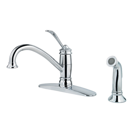 Pfister LF0344ALC Brookwood One Handle Polished Chrome Kitchen Faucet