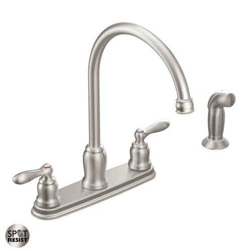 Moen CA87060 High-Arc Kitchen Faucet with Side Spray from the Caldwell Collection