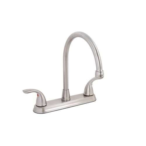 Premier 120446LF Bayview Kitchen Faucet High Arc Double Handle