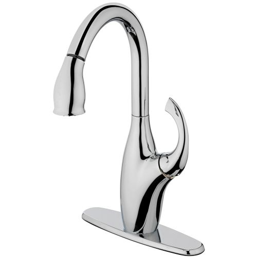 Estora 25-51141 Single Handle Kitchen Faucet with Pull Down Spray from the Aria Collection