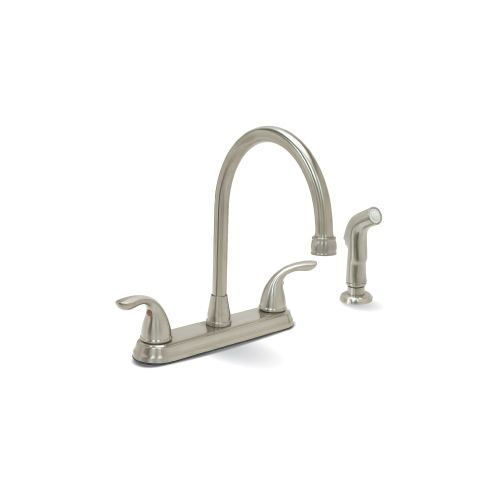 Premier 120448LF Bayview Kitchen Faucet Double Handle with Side Spray