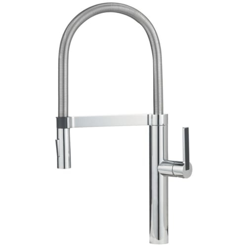 Blanco 441405 Culina Kitchen Faucet Semi Professional with Steel Spring Spout & Magnetic Docking - 1.8 gpm Chrome