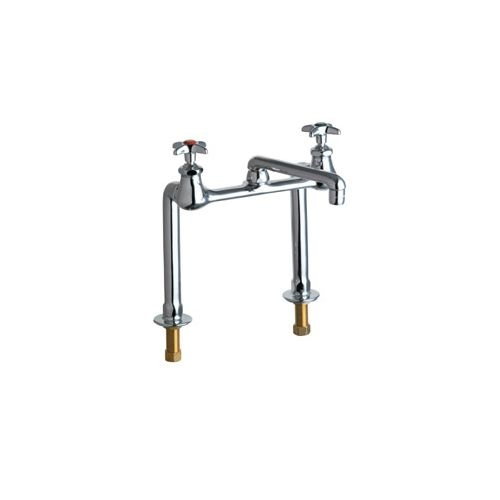 Chicago Faucets 941-AB Deck Mounted Utility / Service Faucet with Cross Handles - Commercial Grade