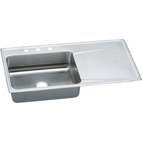 Elkay ILR4322L Gourmet 43' Single Basin Drop In Stainless Steel Kitchen Sink