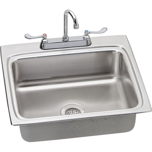 Elkay LRAD252260SC 25' Single Basin Drop-In Stainless Steel Kitchen Sink with Co