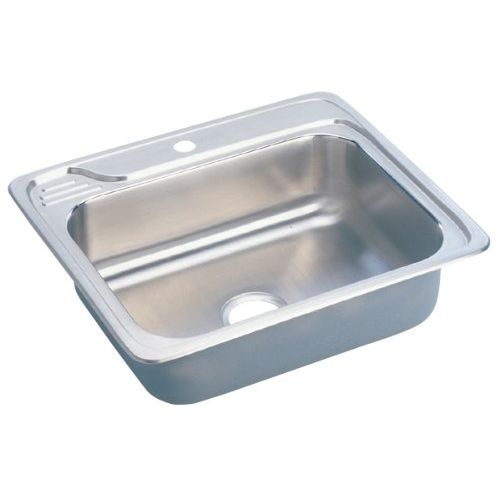 Elkay ECC2522 Celebrity 25' Single Basin 20-Gauge Stainless Steel Kitchen Sink for Drop In Installations with SoundGuard