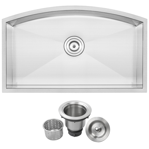 Ticor TR2220 Stainless Steel 16-gauge Single Bowl Undermount Kitchen Sink - Brushed Stainless Steel