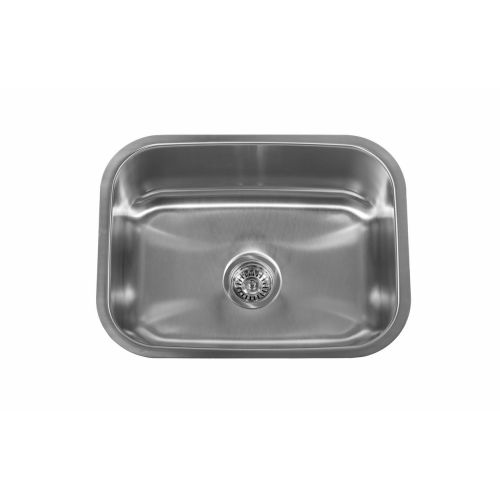 Delacora DSS182318C 23-1/2' Single Basin Undermount Stainless Steel Sink with Sound Dampening Technology