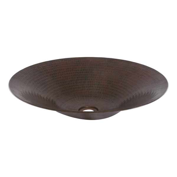 Unikwities 18 X 3.5 inch Round Vessel Copper Sink in Bronze Finish - Oil rubbed bronze - Oil Rubbed Bronze Vessel Sink by Unikwities