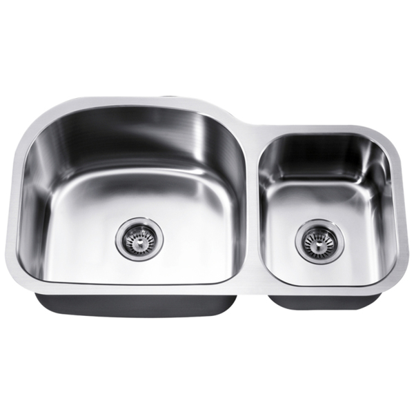 Dawn Undermount Stainless Steel Double Bowl Sink (Small Bowl On Right) - Minimum Cabinet Size: 36'