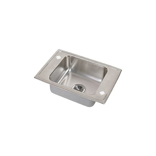 Elkay PSDKAD2517 Pacemaker Stainless Steel 25' x 17' Single Basin Classroom Sink with Faucet and Bubbler