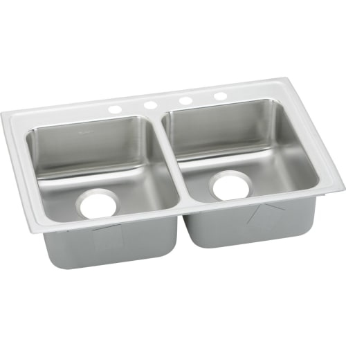 Elkay LRAD292265 Gourmet 29' Double Basin Drop In Stainless Steel Kitchen Sink